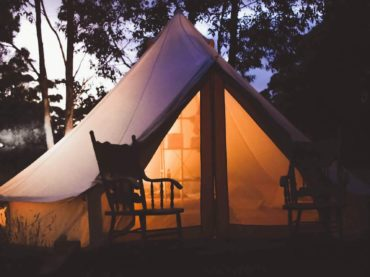 glamping is a fun activity you can do in Montgomery County Maryland