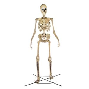 12 foot skeleton with LCD eyes